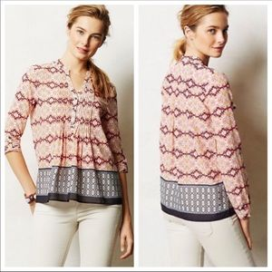 HD in Paris Kaveri Henley Top By Anthropologie